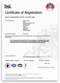 bsi certificate of registration for Deval Limited
